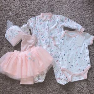 NWT baby layette Kyle & Deena 0-3M baby outfit